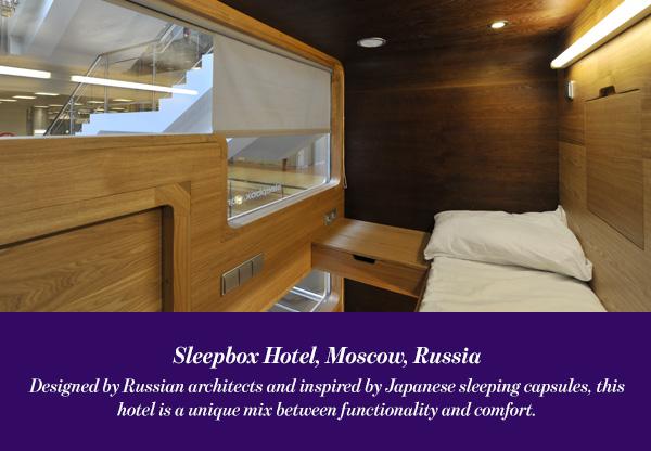 Sleepbox Hotel, Moscow, Russia