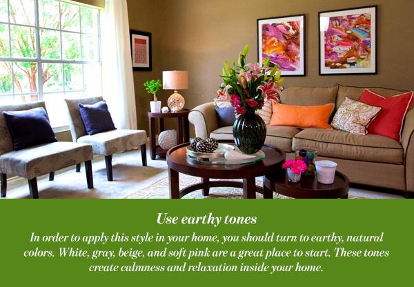 Use earthy tones
