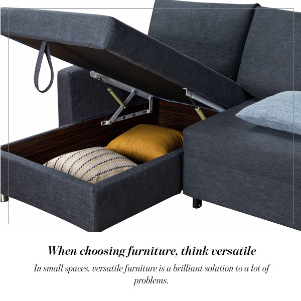 When choosing furniture, think versatile