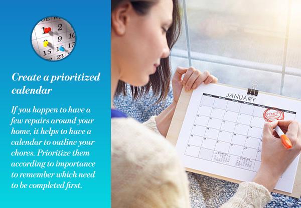 Create a prioritized calendar