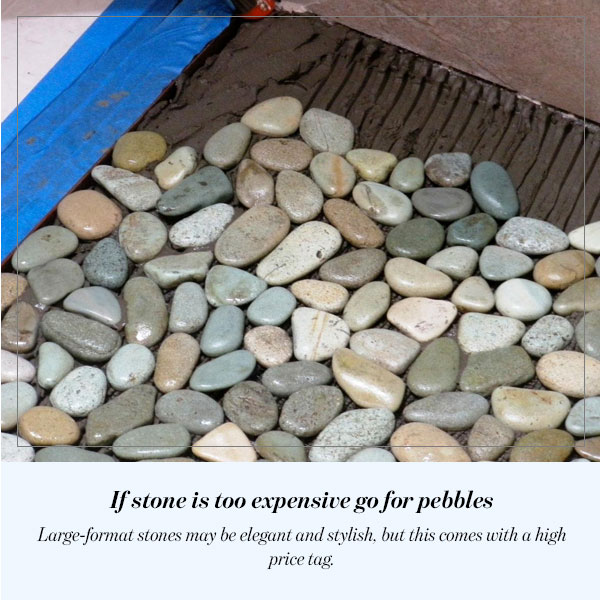 If stone is too expensive go for pebbles