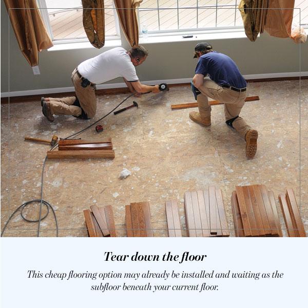 Tear down the floor