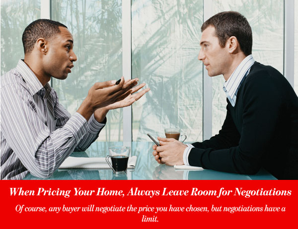 When Pricing Your Home, Always Leave Room for Negotiations