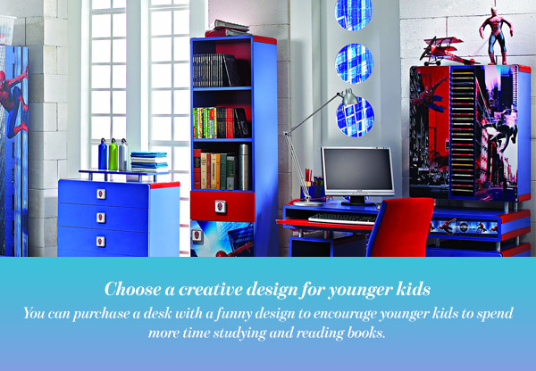 Choose a creative design for younger kids