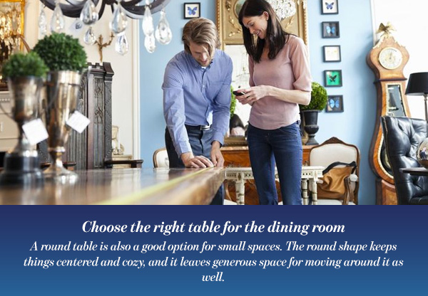 Choose the right table for the dining room