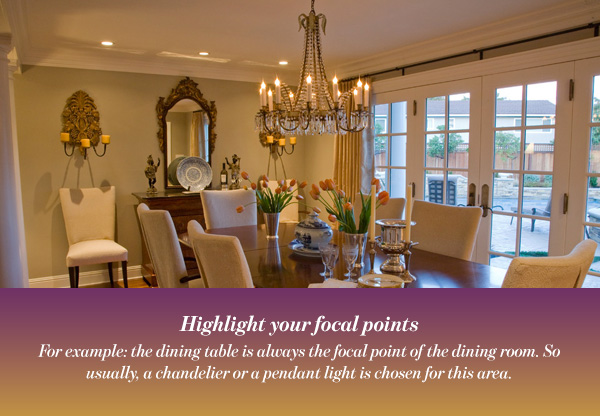 Highlight your focal points