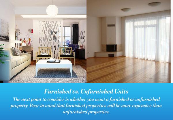 Furnished vs. UnfurnishedUnits