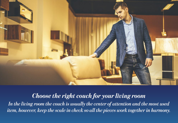 Choose the right couch for your living room
