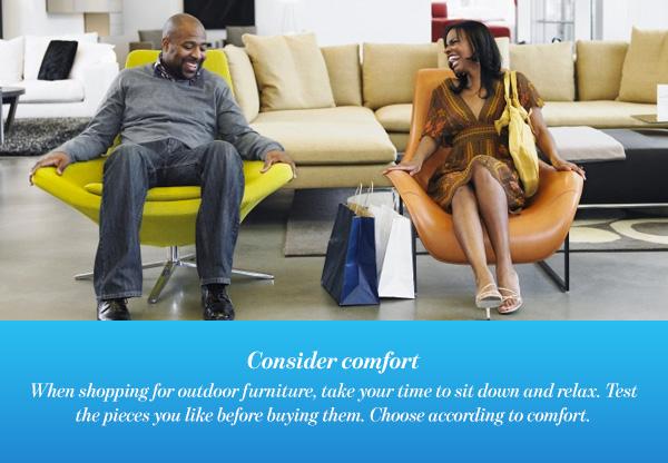 Consider comfort