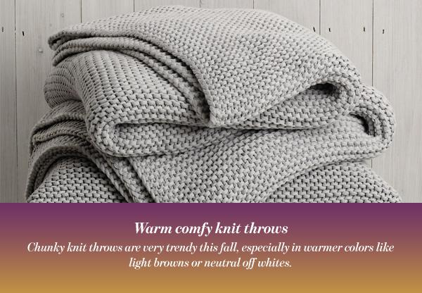Warm comfy knit throws
