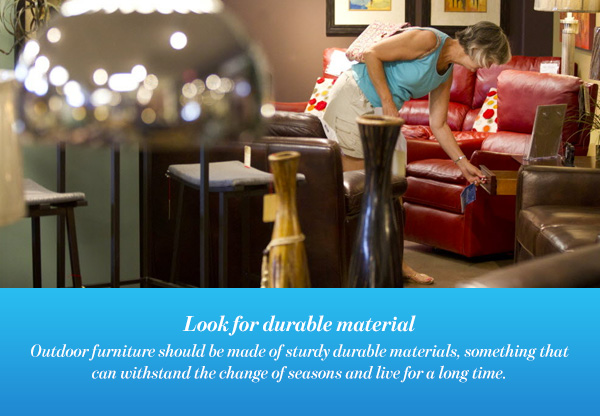 Look for durable material