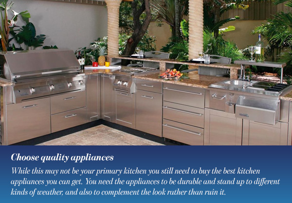 Choose quality appliances