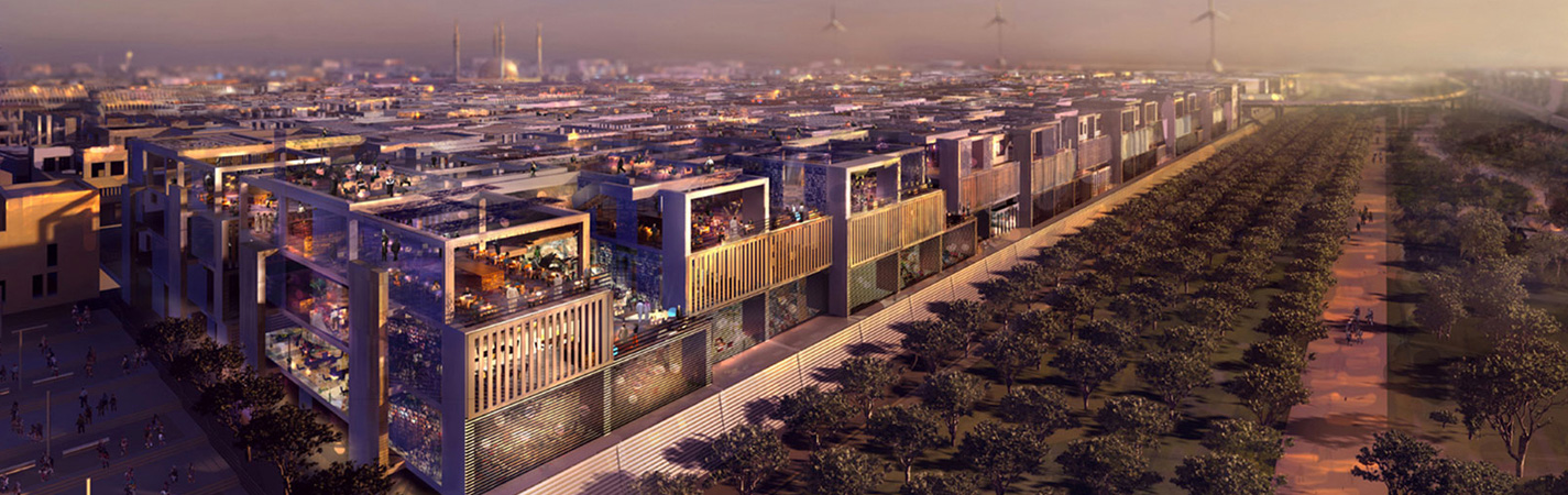 اثنان منهم في الخليج مدن المستقبل التي يتم بنائها الآن