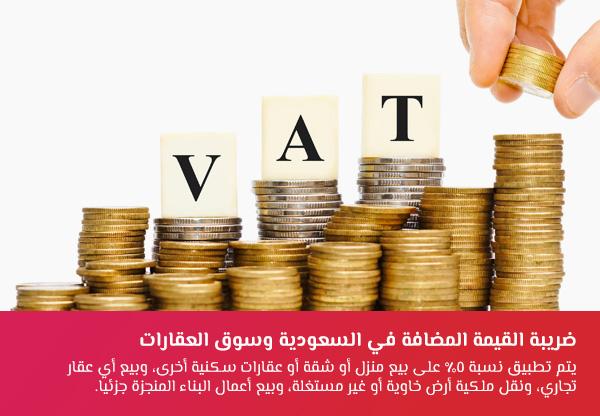 ضريبة القيمة المضافة في السعودية وسوق العقارات