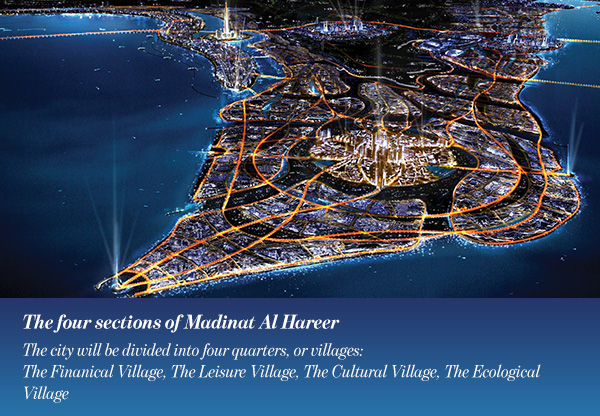 The four sections of Madinat Al Hareer