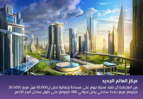 مركز العالم العربي الجديد ماذا يجعل مدينة نيوم مختلفة عن المدن المستقبلية فى المنطقة