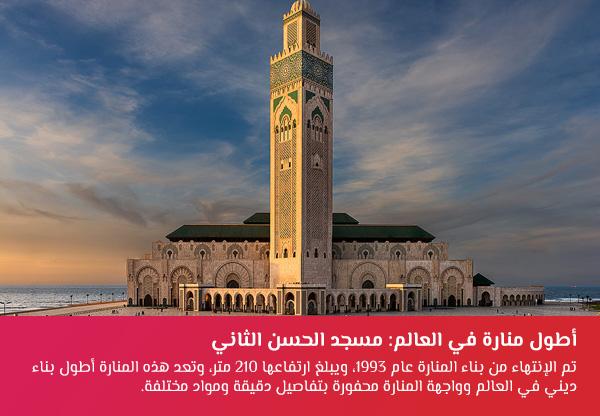 أرقام قياسية عربية: مسجد الحسن الثاني