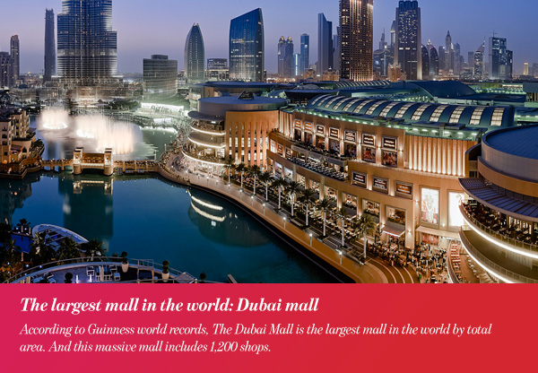 The largest mall in the world: Dubai mall