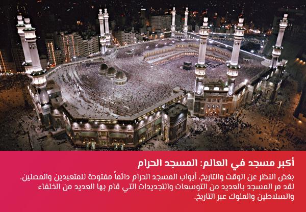 أرقام قياسية عربية: المسجد الحرام