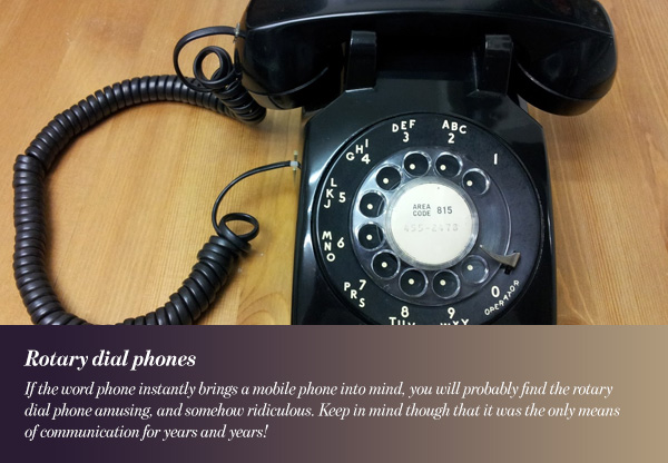 Rotary dial phones
