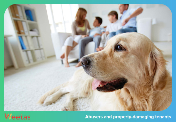 Abusers and property-damaging tenants