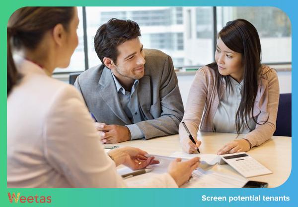 Screen potential tenants