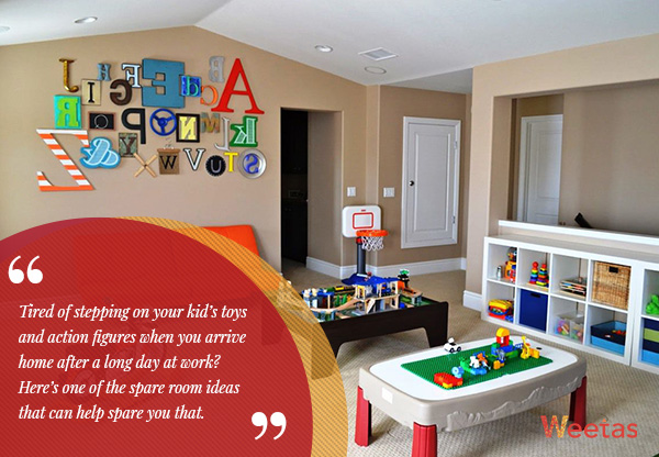 7) Kids' playroom: