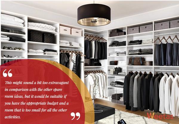 9) Walk-in closet: