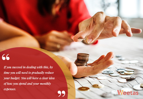 Gradually reduce the budget