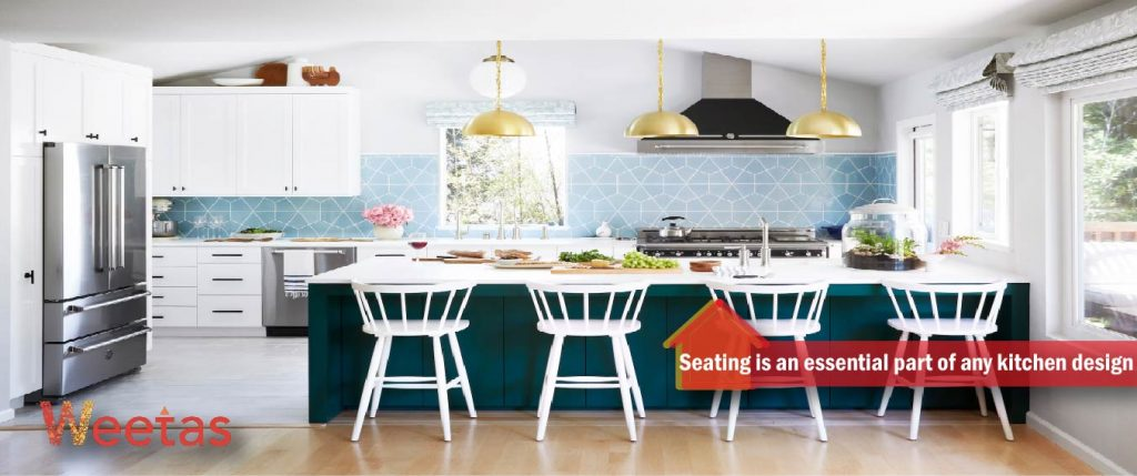 Seating is an essential part of any kitchen design