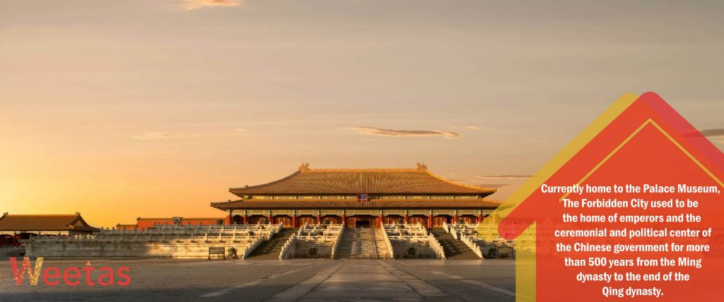 The most beautiful Chinese architecture: The Forbidden City temple in Beijing, China