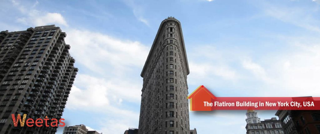The most beautiful Beaux-Arts architecture: The Flatiron Building in New York City, USA