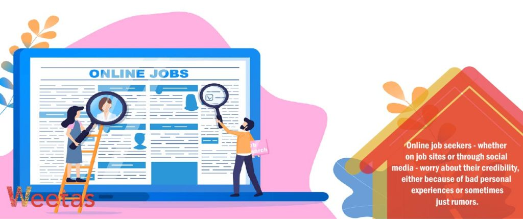 How to determine the credibility of jobs posted online