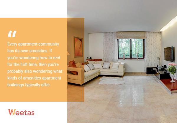 - Apartment amenities checklist