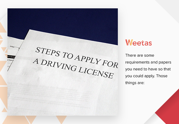 Steps to Apply for a Driving License