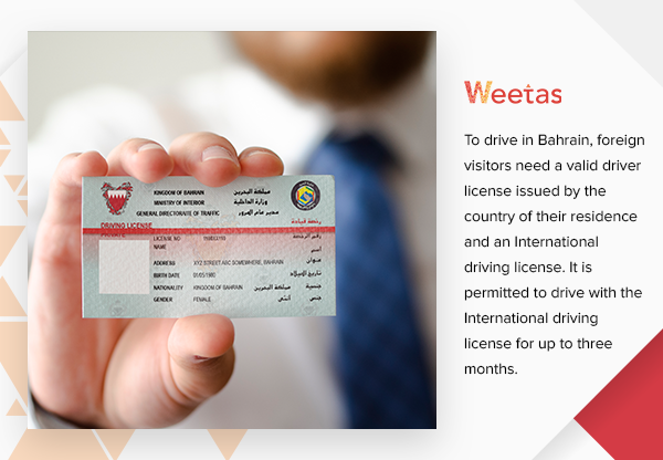 About foreign visitors' driving license