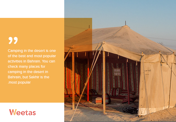 Desert camping in Sakhir - Activities in Bahrain