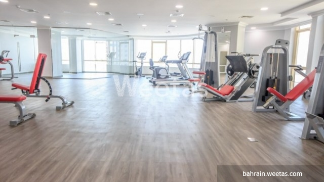 Equipped fitness gym