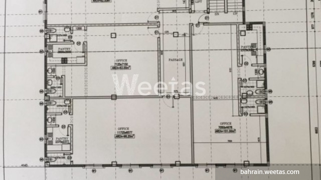 blueprint of the building