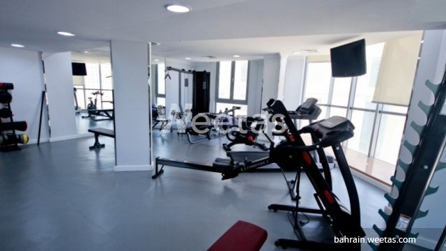 Large fitness gym room