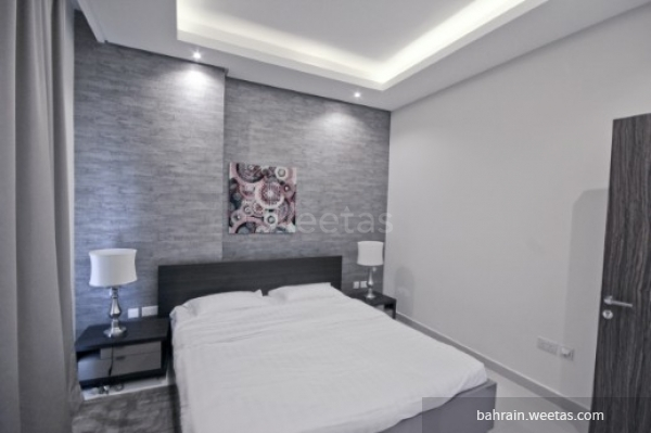 bedroom with one big bed