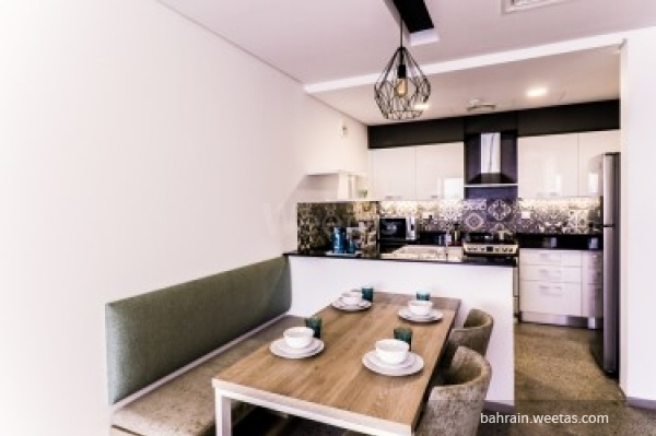 open kitchen and dinning table
