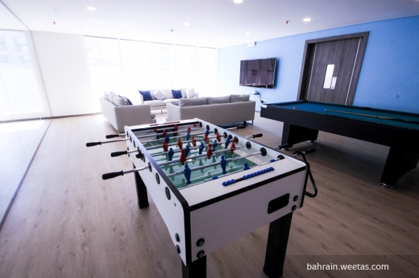 The games area