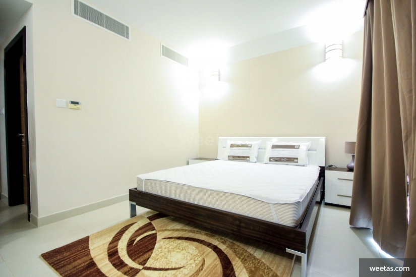 bedroom with ac system