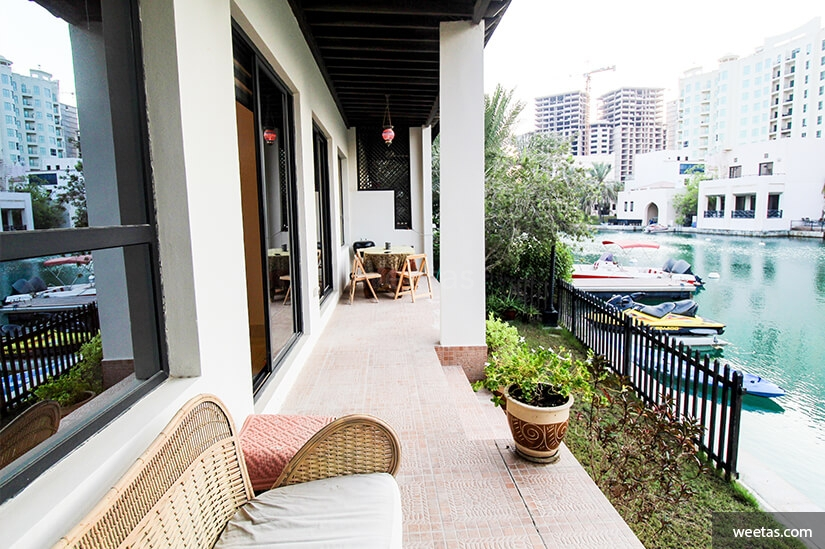 balcony with a view of the Lagoon