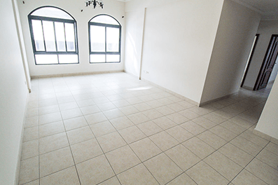 A semi furnished apartment for rent