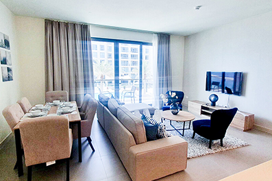 Fully furnished apartment for rent with a nice balcony