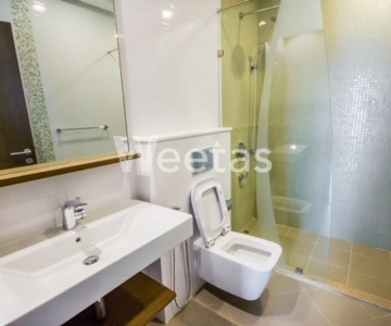 Two bedroom semi furnished apartment with sea and city view