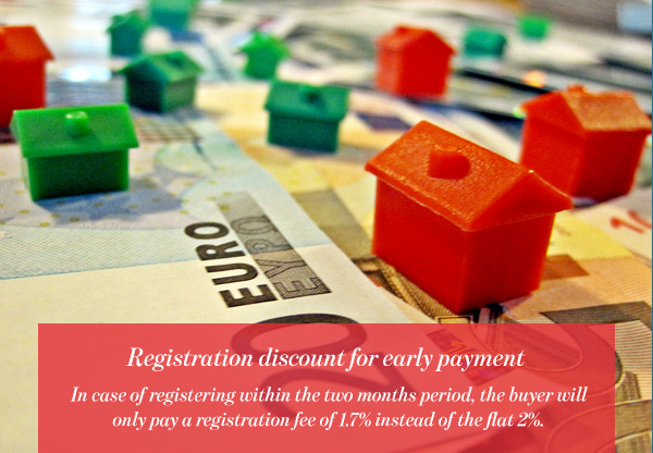 Registration discount for early payment
