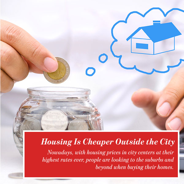 Housing Is Cheaper Outside the City